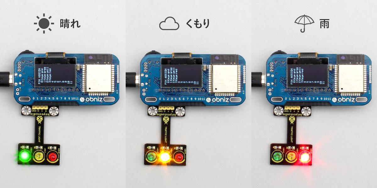 obniz Board+LED信号