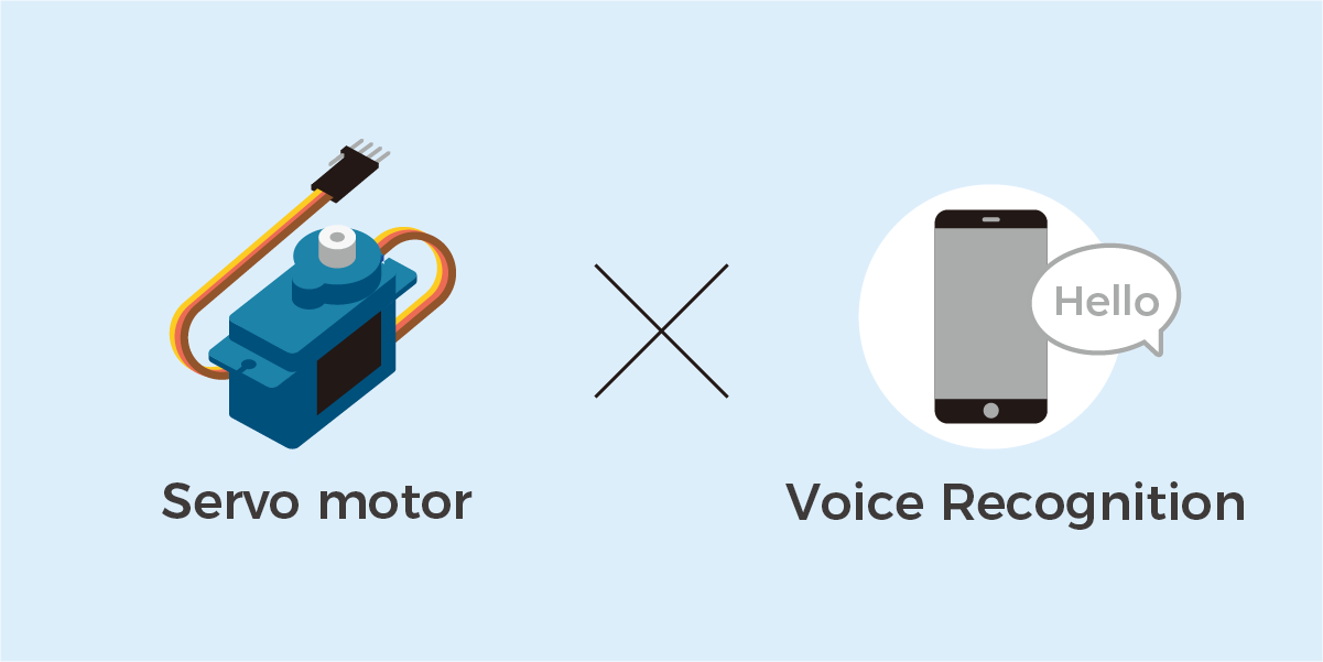 Move servo motor by voice recognition