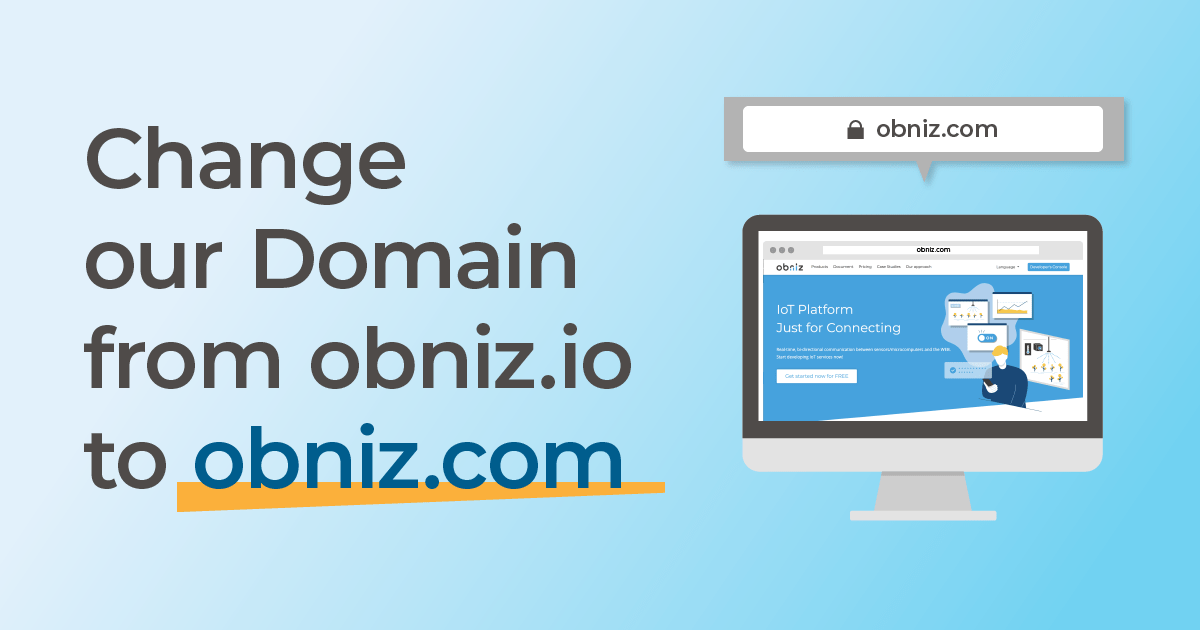 "Change our Domain from obniz.io to ""obniz.com"""