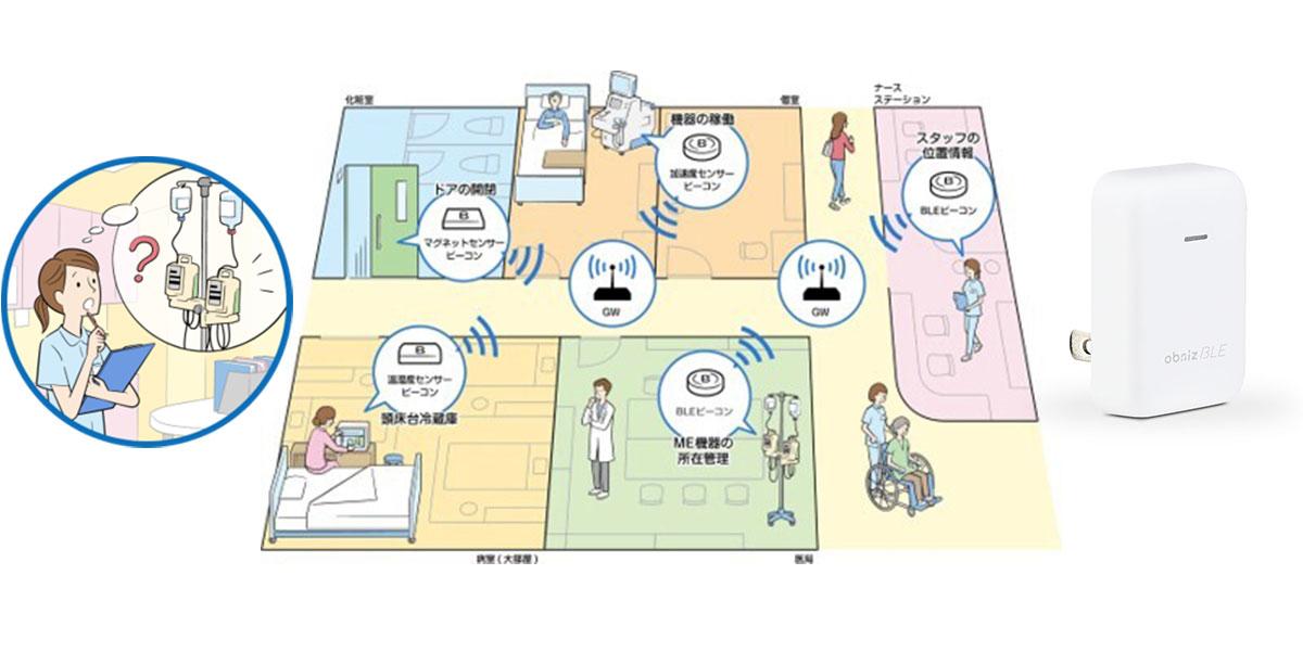 AC&M社のモニタリングシステム 『TRACE MOTION』と『obniz BLE/Wi-Fiゲートウェイ』が総合病院にて今春より稼働